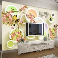 Modern brief seamless mural wallpaper tv background wall 3d stereo
