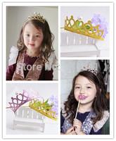 Kids Princess Cute Pearl Headband Girls hair Accessory pearl crown Head Wear Glittle taira Hairdress Drop Shipping Free Shipping
