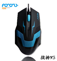 hight quality! 1200 DPI USB Wired Gaming Game Mouse For Games PC Laptop Black Free shipping
