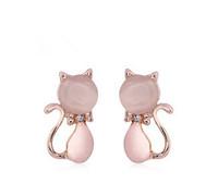 New Korean Cute Cat Earrings Cat eye stone For Women accessories Jewelry Bowknot Earrings Wholesale