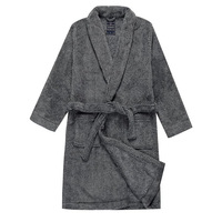 Winter thickening robe sleepwear bathrobes male coral fleece lounge plus size plus size