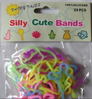 Retail Silicone Cute bands Milton toys 1pack=24pcs