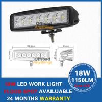 "4"" 18W Cree LED Light Bar Work Working Lamp Truck Trailer Motorcycle SUV ATV Off-Road Car 12V 24V"