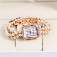 2014 Hot Sale Luxury Brand Gedi Fashion & Casual  Watch Women Dress Watch Wrap Around Pearl Rose Gold Quartz