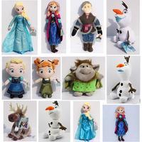 Frozen Plush Toys olaf plush Princess Elsa plush Anna Sven Kristoff Trolls Plush Doll Brinquedos Toy Mix Style You can choose