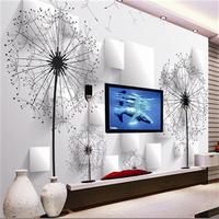 Tv background wall sofa three dimensional wallpaper mural 3d dancingly