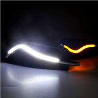 S 2* LED Daytime Running light for Chevrolet cruze  with light guide turn to yellow  free shipping cost