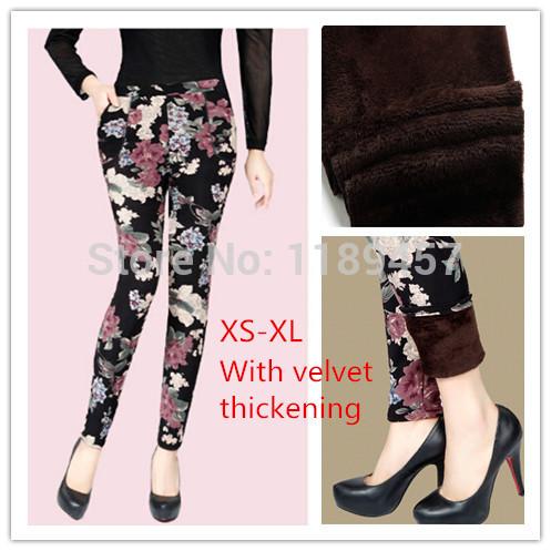 2014 nouvelle mode des femmes automne et en hiver une élasticité élevée et de bonne qualité leggings. velours épais pantalons livraison gratuite