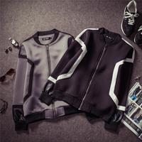 Winter jackets mens fashion geometric designer coats with zipper front men's neoprene jacket winter coat Nora15654