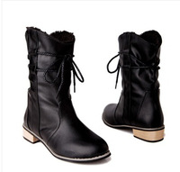 Free shipping High quality ladies fashion high boots female  Martin boots  PU fabric  TPR snow shoes