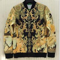 [Amy]2014 High quality winter coat 3D printed sweatshirt men's cardigans jacket Space cotton casual dress J31