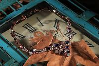 2015The new retro fashion personality elegant European style sweet lady temperament wild retro gold flower necklace  A-7110