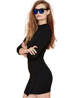 Free Shipping Black elegant asymmetrical Sexy Slim Hip Dress invisible zipper dress Sheath Casual Dresses vestido preto