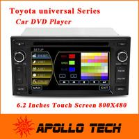 2015 High quality CASKA 6.2inch Car DVD player system for Toyota universal 800X480 Windows CE 6.0 bluetooth digital TV CA3619G