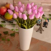 Yangzi - 228  Artificial flowers tulip flower upscale feel at home desktop pu decorative flowers  Free Shipping