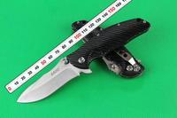 Free Shipping SanRenMU brand LAND GB908 Model 440c blade G10 handle folding knife
