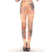2014 new sexy pencil pants  leggings was thin printing