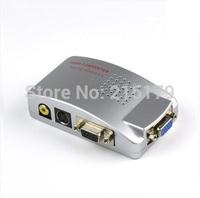 VGA-AV  Converter VGA to TV AV RCA Signal Adapter Converter Video Switch Box Supports NTSC PAL system