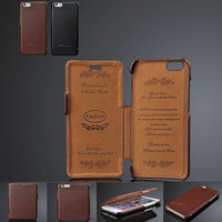 Flip Genuine Real Leather Case pouch Cover For Apple iPhone 6 Plus Luxury Stand