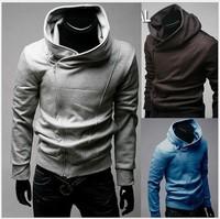 FREE SHIPPING High Quality Hot Monde South Korea Zipper Hoodie Rider Men's Jacket Men's Coat Sweat Shirt   4 Colours