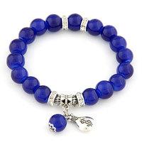 2015 Korean Womens summer fashion OL ladies purse wild personalized bracelet pendant beads Crystal Jewelry for lady Z&E2151