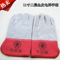 6pcs/1lot!Factory Outlet 11-inch cut-resistant gloves, anti- dermabrasion genuine leather welding gloves labor protective gloves