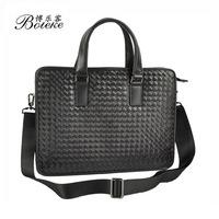 2014 new  100% Genuine leather Men Skin Handmade Head Layer Cowhide Handbag Shoulder Inclined Bag Briefcase Men's Bags