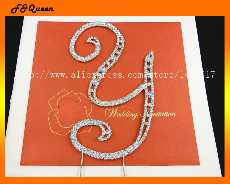 Free shipping! Alphabet 'Y' rhinestone cake decoration,15.5*9.7cm ,50pcs/lot(China (Mainland))