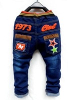 The new winter children jeans English letters feet pants  a9.9