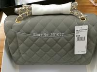 Jumbo Brand Cavier 100% All Real Leather Lam Shin, Fashion designer brands Chain Handbag, Women's Genuine Leather Messenger BAG