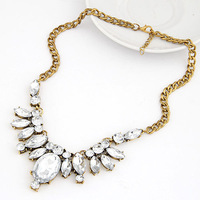 New 2015 Girls European and American vintage gorgeous gem collar necklace temperament Chokers Necklaces for womens Z&E2180