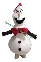 New arrival Olaf snowman mascot costume frozen character 100% real pictures high qulity