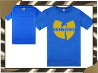 New Arrival Cheap Wu Tang Brand Casual T-shirts Men's Fashion Tee T Shirt Good Quality Blue Color Print Wu Tang T Shirt-043