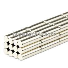 50 шт. супер сильные круглые длинного цилиндра стержневых магнитов 5 мм х 20 мм редкоземельных неодимовый N35 бесплатная доставка! ndfeb неодимовые магниты