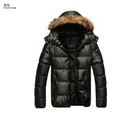2014 Winter New 90% White Duck Down Thick Warm Mens Famous Brand Coats&Jackets Parka Outdoor Detachable hood M-XXXL