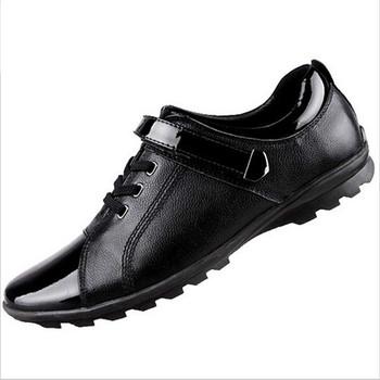 Новый 2015 мода сапоги летом прохладно и зима теплая мужчины обувь кожаная обувь ...