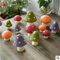 New Pastoral  Mushroom Resin Desk Decoration/3pcs/set/Christmas gift/Resin Craft/Home Decoration-40sets/Lot Free Shipping