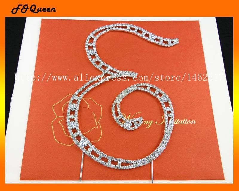 Hot sale! Alphabet 'E' rhinestone cake decoration,size:14.8*10cm ,50pcs/lot(China (Mainland))