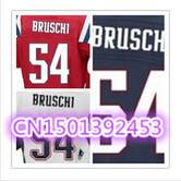 Cheap Stitched Custom Men's American Football Jersey #54 Tedy Bruschi Elite Football Jersey/Shirt .Accept Drop Shipping
