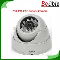Security Camera SONY 700TVL Infrared 960H CCD Indoor Dome Camera 23 pcs IR LEDs D-WDR & 2D-DNR eyeball Camera CCTV Free shipping