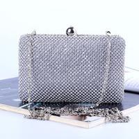 Women's Hot Sale Promotion New Handmade Rhinestone Chain Evening Bag Day Clutch Bridal Bag Free Shipping