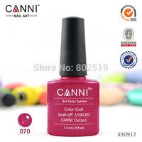 Canni Shellac 206 Colors Nail Polish (Choose 30Colors+Base+Top) Led UV Nail Gel Manicure Nail Art Shellac Soak Off Nail Gel