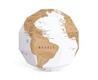 Wholesale 30 pieces NEW Scratch Globe 3D World Scratch Map , Scratch Off Map Second Version,DIY World Map