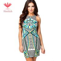 Plus Size 2014 New Fashion Summer Women Casual Dress Sexy Geometry Pattern Modal Dress Mini Dress Sleeveless Women Dress D10941