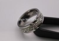 hot !!! free shipping titanium diamond ring