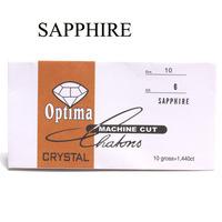 sapphire color nail art diamond ss6 rhinestones 2mm diameter glass rhinestones in paper pack nail rhinestone