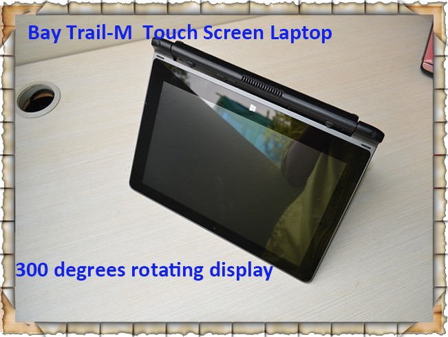 Low Power BayTrail N2806 N2807 Laptop Windows 8 1 Rotating Touch Screen 10 1 Built in