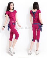 Women Casual Summer Cotton Sportswear Suit Hoodies Pullovers Sweatshirt Tracksuit M-XXL