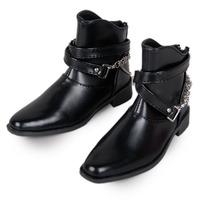 [wamami] 63# Black 1/3 SD AOD DOD DZ BJD Dollfie Chain Synthetic Leather Boots