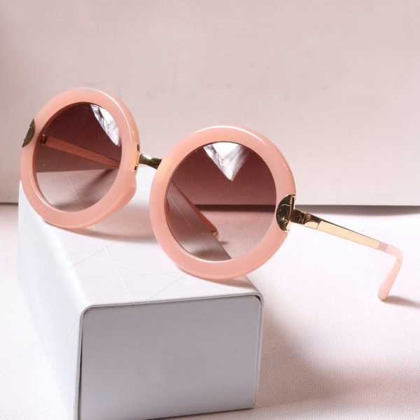 Restoring ancient ways the new counters quality goods, big round box pink sunglasses, big box round sunglasses tide female(China (Mainland))